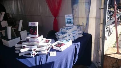 mijn boeken in het zonnetje!